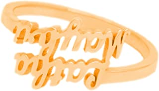 925 Sterling Silver Personalized Script Name Ring Jewelry Custom Made with Any Names