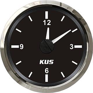 Aurora Instruments GAR15ZEXOABBE American Retro Rodder Red Clock Gauge