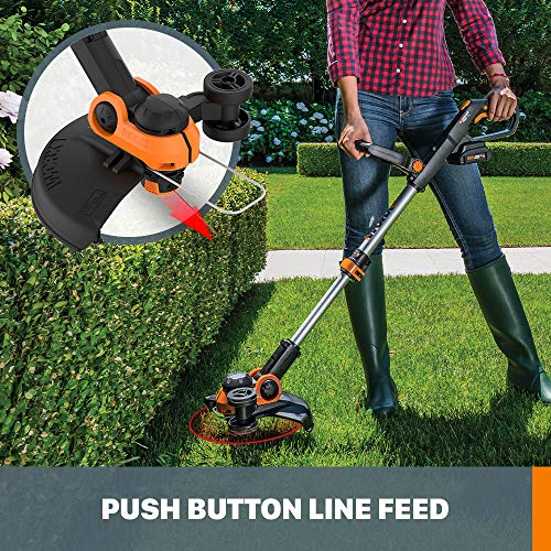 "WORX WG163 GT 3.0 20V PowerShare 12"" Cordless String Trimmer & Edger, 12in"