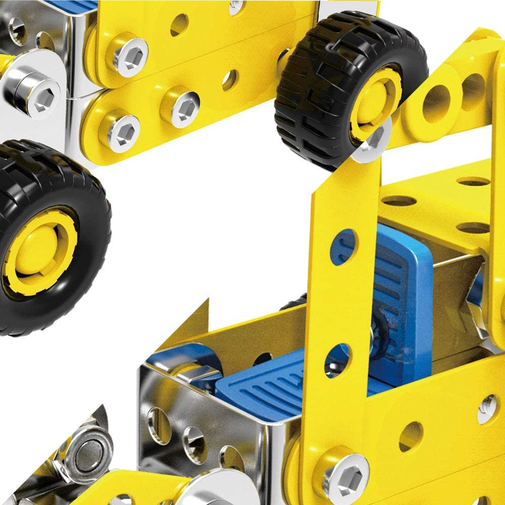 Engineering Vehicle Series Metal Alloy Building Block Toys Simulation Construction Toy Set STEM Learning Toys are The Best Gifts for Boys and Girls