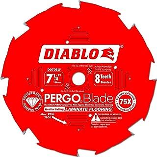 Freud D0708LF Diablo 7-1/4-inch 8T Diamond Tipped PERGO Circular Saw Blade