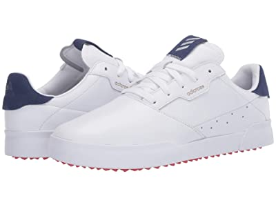 adidas Golf Adicross Retro (Footwear White/Legacy Blue/Glory Red) Men
