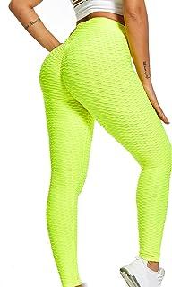 niyokki High Waisted Scrunch Butt Lifting Leggings, Womens Tummy Control Workout Running Capri Yoga Pants Sports Wear