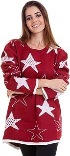Suéter Tricot Estrelas Kinara
