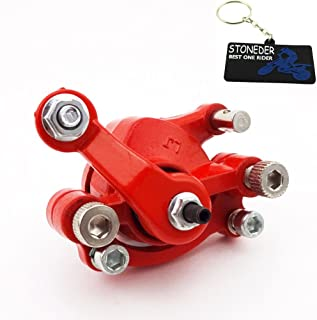Stoneder En acier /Étrier de frein /à disque avant pour mini moto Rouge 4/roues Pocket Bike de 43cc 47cc ou 49cc pour enfant scooter