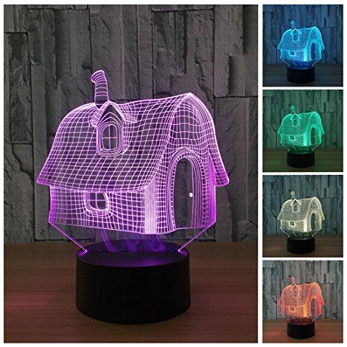 3d Nightlights, 7colores cambiar Touch Control Noche Lámpara, mejor regalo para amigos Niños
