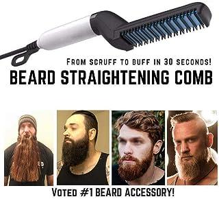 Hair Straightener For Men, Beard Straightener Men's Quick Styling Comb Hair Curlers Hair Straightener Magic Massage Comb B...