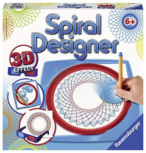 Ravensburger 3D Spiral-Designer, Zeichnen lernen für Kinder ab 6 Jahren, Kreatives Zeichen-Set für farbenfrohe Spiralbilder und Mandalas