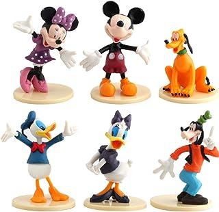 WENTS Mickey Cake Topper Mini Juego de Figuras Niños Mini Juguetes Baby Shower Fiesta de cumpleaños Pastel Decoración Sumi...