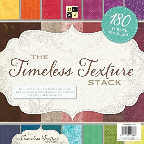 Die Cuts With View Set De Scrapbooking Timeless Texture Stack Dcwv 180 Hojas 30X30Cm