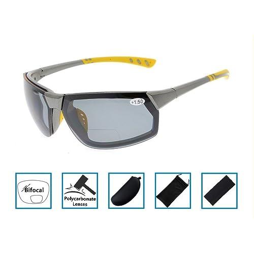 0859ec019b Gr8Sight Lectores Sun Sports TR90 Gafas de sol bifocales irrompibles para  béisbol Running Fishing Driving Golf