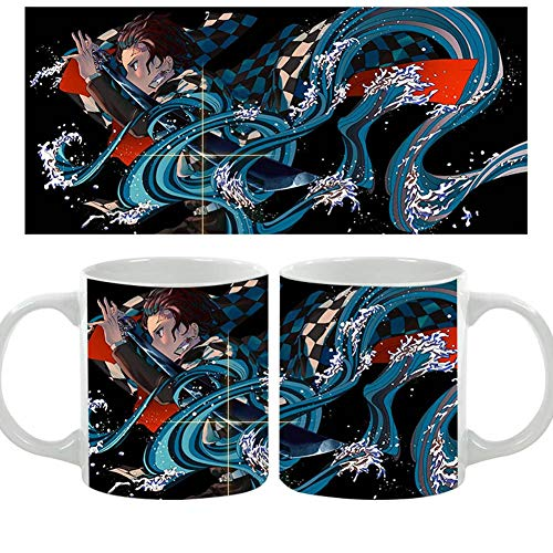 ALTcompluser Anime Demon Slayer Kimetsu no Yaiba Thermisch Reaktiv Tasse Mug - Tanjirou Kamado Kaffeetasse 350 ml(Motiv 2)