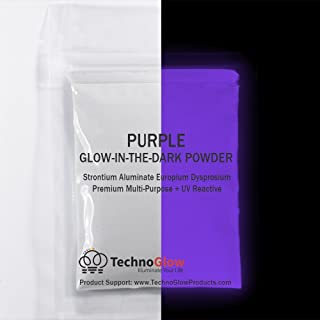 Violet/Purple UV/Glow in the Dark Pigment Powder - Medium 30-40 um-10g