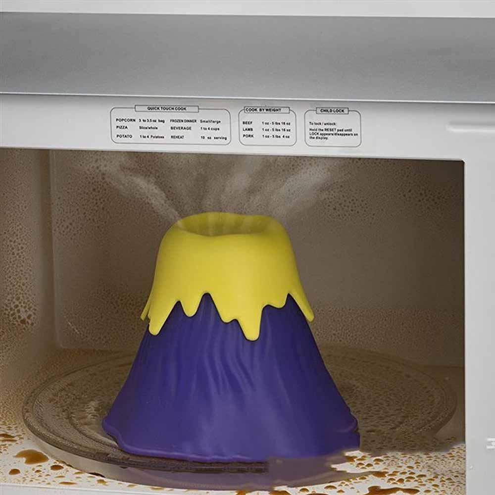 MOGOI Limpiador de microondas, Volcano Horno de acción