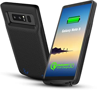 CASESSARY Galaxy Note 8 Battery Case, 4900mAh Quick Charger 3.0 Rechargeable Extended Protective Portable Charger, External Battery Case w. QC 3.0 Charging Compatible w. Samsung Galaxy Note 8 (Black)