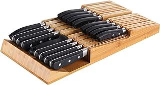 NIUXX Bloc Couteau de Cuisines per 16 Pièces Couteau(Ne Comprennent Pas), Tiroir de Porte-Couteau de Cuisine, Organisateur...