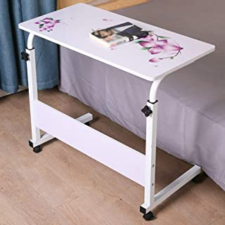 Table Notebook Laptop Desk Portable Standing Bed Sofa Table Multifunction Home Height Adjustable Pulley Reading Books, 4 S...