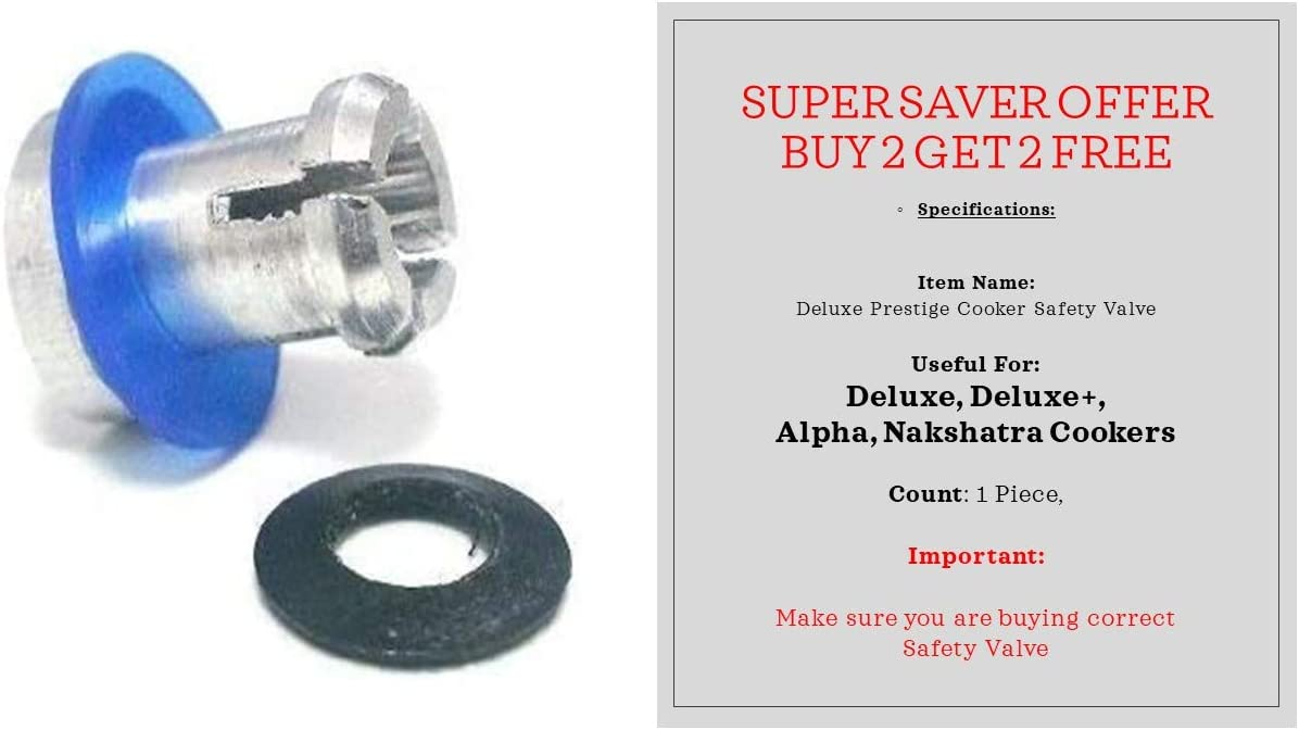 Prestige Safety Max 78% OFF Discount mail order Valve for Deluxe Alpha Pre Plus