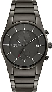 Kenneth Cole New York Men Black Dial Stainless Steel Band Watch - Kc15176001, Analog Display