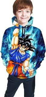 Children's Hoodies Dragon Ball Z Goku Sweatshirt Unisex Pocket Hooded Sweatshirts for Boys/Girls/Teen/Kid's