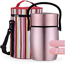 WCHCJ Thermal Lunch Box-Thermal Insulated Lunch Thermos Wide Mouth,Stainless Steel Vacuum Insulated Flask,Travel Food Stor...