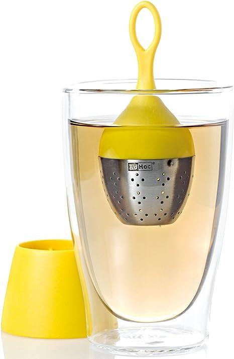 ADHOC tè ospizio Tee-uovo Floatea a portata di mano in acciaio inox nylon nero cm 13