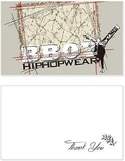 Graffiti Street Culture Boy Hip Hop Thank You Card Birthday Wedding Business Message Set