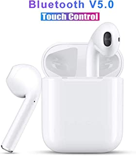 $34 » Touch Wireless Stereo Earbuds Bluetooth Headset in-Ear Earbuds Sports Headset, Bluetooth Auto Pairing with Charging Case Compatible for Airpods Android/Phone