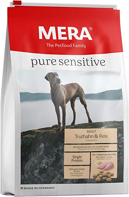 Mera Comida para Perros Pure Sensitive Pavo y arroz, 12,5 kg