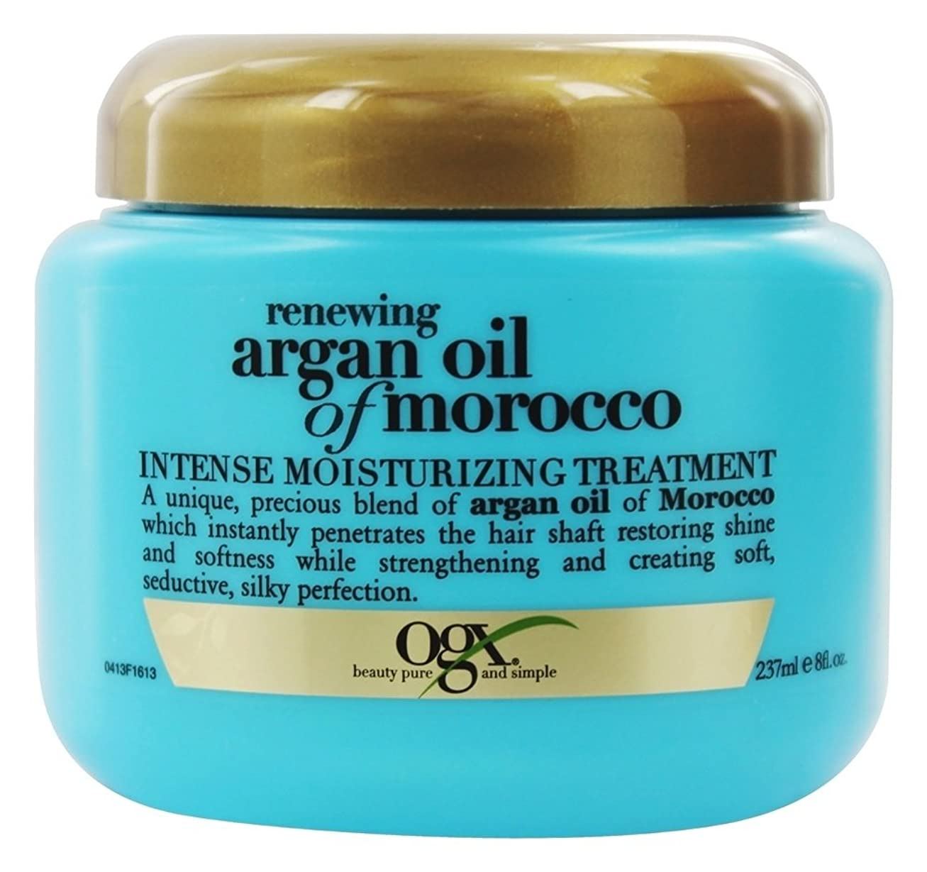 みぞれ気まぐれな三角Organix - モロッコのArganオイルを更新する強い保湿の処置 - 8ポンド [並行輸入品]