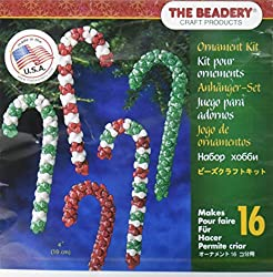 Beaded Candy Cane Craft