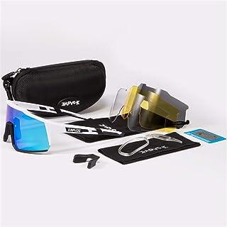 SUNTIRC KAPVOE Gafas de ciclismo fotocromáticas para hombres y mujeres Gafas de sol polarizadas de bicicleta de montaña