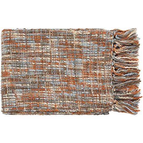 Artistic Weavers Sylvia Throw Blanket 50 by 60-Inch, Rust