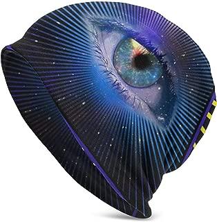 Unisex Beanie Caps All Seeing Eye Pyramid Symbol Providence Knit Hat Skull Cap Winter Summer Warm Womens Mens Hats Black
