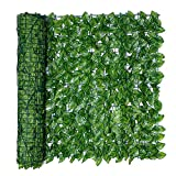 Piaoliangxue Artificial Leaf Screening  Artificial Green Leaf Hedge Privacy Protection  UV Fade Protected Privacy Wall  For Outdoor Decor Landscaping Garden Fence Balcony Screen (0.5 * 3m A)