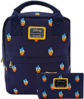 Donald Duck Canvas Small Backpack and Wallet Set