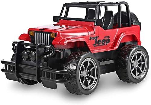 nueva gama alta exclusiva Tagke Coche de Control Control Control Remoto inalámbrico 10 km   h1  24 relación 35HzSUV Coche de Juguete eléctrico Coche de Control Remoto Off-Road Jeep Regaño de los Niños (Color   rojo)  ofrecemos varias marcas famosas