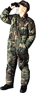 kids camo insulated coveralls
