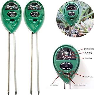 CoscosX 2 Packs 3-in-1 Soil PH Meter,Soil Test Kits PH Moisture Plants Water Light Tester Testing Kits for Home and Garden...