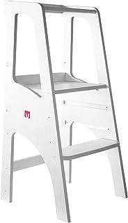comprar comparacion Bianconiglio Kids ® EVO 2019 Torre de aprendizaje Montessori acabado blanco mate, regulable en altura