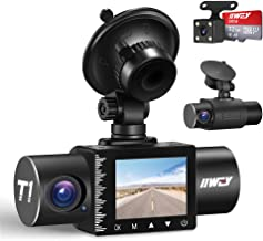 iiwey Dash Cam جلو و داخل 1080P سه کانال با دید در شب IR ، کارت SD دوربین شامل ماشین ، Dashboard Camera Dashcam for Cars 170 Wide Angles، HDR، Motion Detection and G-Sensor