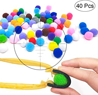 featured product TOPRADE Multiple Color Felt Ball/Fuzzy Ball Cotton Pellets Slingshot Ammo Safe for Children