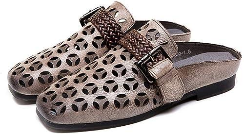 JLCP Sabots Mules Femme, Les Loisirs Ajourée Sandales Sandales Sandales Fond Mou Antidérapant Confortable Chaussures de Plage,2,37 c33