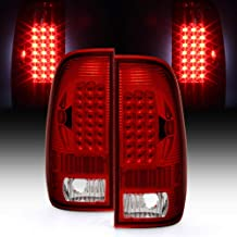 ACANII - For 1999-2007 Ford F250 F350 F45 SD 1997-2003 F150 Red LED Tail Lights Signal Lamps