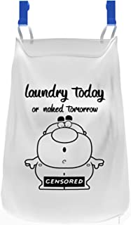 Hanging Laundry Hamper - Over The Door Clothes Basket & Storage Organizer - Space Saver Hampers for Apartment, Dorm Rooms & Closet – Sorter Bag for Essentials & Delicates – With Suction Hooks for Kids
