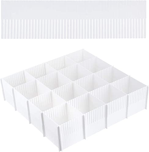 lowest 15pcs discount Drawer online Dividers Adjustable Drawer Storage Organizer for Clutter Kitchen Cutlery Dresser Makeup Tools Socks Can Help Tidy Office Desk Clinic Bedroom (White, 38cmx11cm) outlet online sale