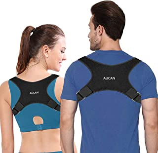Posture Corrector,AUCAN Discreet Under Clothes,Designed for sedentary,Adjustable Back Straightener,Comfortable Posture Trainer for Spinal Alignment and Posture Support (Unisex)