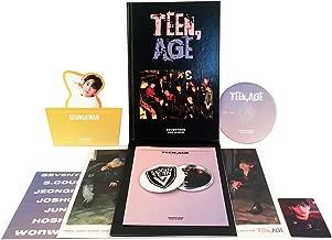 TEEN, AGE [ RS Ver. ] - SEVENTEEN 2nd Album CD + Photo Book + Photo Card + Folding Poster(ON PACK) + Lyrics Paper + Name Sticker + Portrait Desktop Stand + FREE GIFT / K-POP Sealed