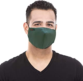 Healthgenie FM 101 Premium Quality Washable & Reusable Double Layered Cloth Face Mask for Men- Assorted Color (Pack of 10)