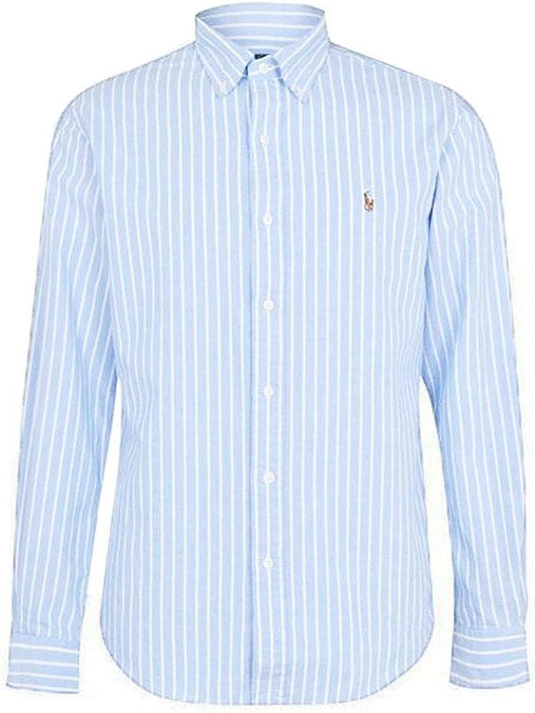 Ralph Lauren Polo Hombre Azul Grueso Rayas Oxford Algodón ...